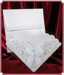 BASTELSETS / CRAFT KITS: Scheda Edele come invito-card o una tabella decorazione per il matrimonio! 3 pezzi