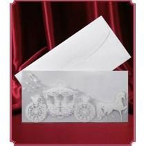 Edele kaart als uitnodiging-kaart of tafel decoratie voor de bruiloft !! 3 delig
