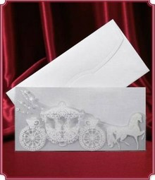 BASTELSETS / CRAFT KITS: Edele card as invitation-card or table decoration for the wedding !! 3 piece