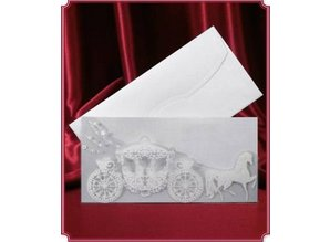 BASTELSETS / CRAFT KITS: 3 wedding cards with coach