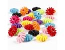 Kinder Bastelsets / Kids Craft Kits Rädermix, D: 27 mm, ass farver, 10 styk i en lille taske