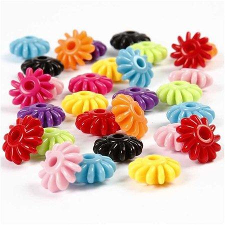 Kinder Bastelsets / Kids Craft Kits Rädermix, D: 27 mm, sortierte Farben, 10 Stück in 1 Beutelchen