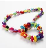 Kinder Bastelsets / Kids Craft Kits Zweiteilige Acrylperlen Herzen, in 9 tollen Farben