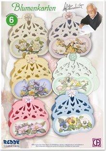 BASTELSETS / CRAFT KITS: Craft Kit til 6 blomster Lykønskningskort med Staf Wesenbeek