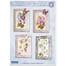 Bastelset für 4 edele Blumenkarten