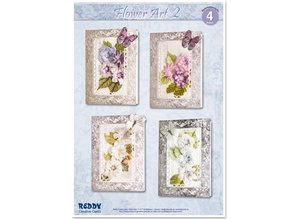 BASTELSETS / CRAFT KITS: Craft Kit for 4 noble flower cards