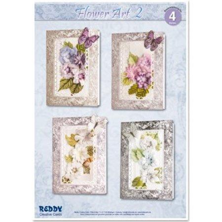 BASTELSETS / CRAFT KITS: Bastelset für 4 edele Blumenkarten