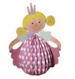 Kinder Bastelsets / Kids Craft Kits Linterna Set Princesa, 20 cm de diámetro, 37,5 cm incl. Luz de Rod + LED