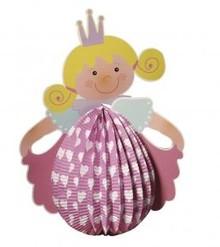 Kinder Bastelsets / Kids Craft Kits Lantern Set Princess, 20cm i diameter, 37,5 cm inkl. Rod + LED lys