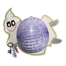 Kinder Bastelsets / Kids Craft Kits Lantern Set spøgelse, 20cm i diameter, 35cm, inkl. Rod + LED lys