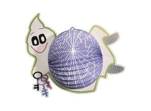 Kinder Bastelsets / Kids Craft Kits Lantern Set ghost, 20cm in diameter, 35cm, incl. Rod + LED light