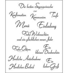 Viva Dekor und My paperworld Gennemsigtige frimærker, tyske tekst, 14x18cm