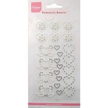 Diseño de Marianne, perlas autoadhesivas, corazón