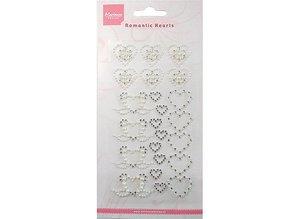 Embellishments / Verzierungen Marianne design, selbstklebende Perlen, Herzen