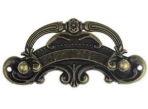 Embellishments / Verzierungen stor nostalgisk håndtag 9,5 x 5,5 cm, 1 stk