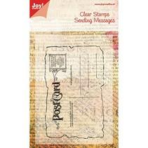 Transparent frimærke, postkort, 125x80mm