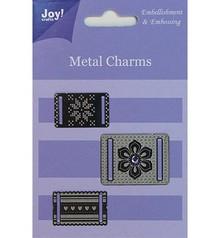 Embellishments / Verzierungen Joy Crafts, Metal Charms, 3 pieces