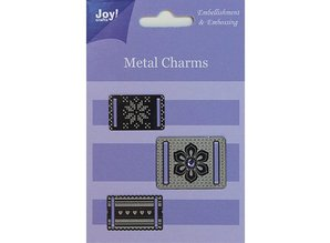 Embellishments / Verzierungen Joy Crafts, Metal Charms, 3 stykker