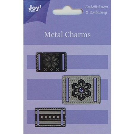Embellishments / Verzierungen Joy Crafts, Metal Charms, 3 Stück