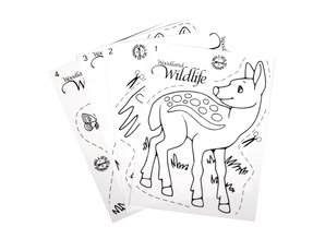 Kinder Bastelsets / Kids Craft Kits Shrink film, der foregår Wildlife