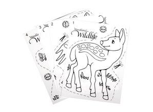 Kinder Bastelsets / Kids Craft Kits Shrink films set Wildlife