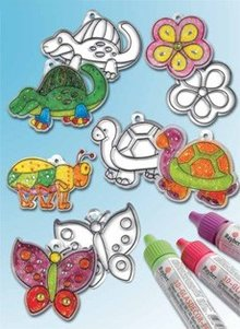 Kinder Bastelsets / Kids Craft Kits Pendenti acrilici, disegni differenti