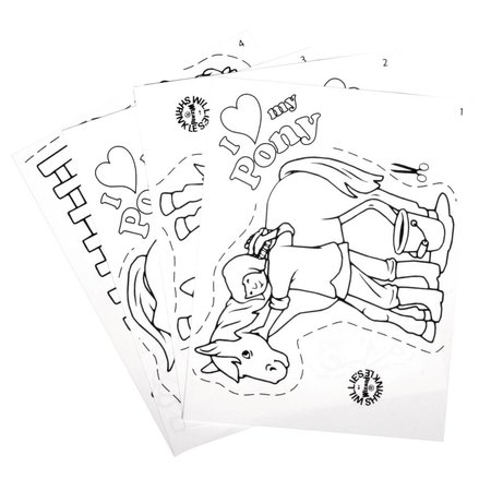 Kinder Bastelsets / Kids Craft Kits Las películas retráctiles Establecer mi pony