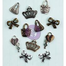 Iconos de metal adornos, 1.9cm / 12pcs