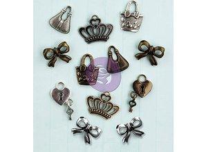 Prima Marketing und Petaloo Iconos de metal adornos, 1.9cm / 12pcs