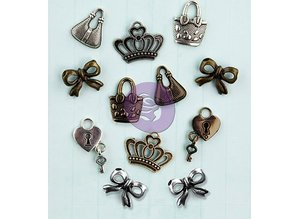 Prima Marketing und Petaloo Metal Icons Embellishments, 1.9cm / 12pcs