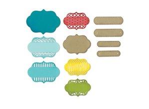 Sizzix ThinLits, Ornate Labels, 11 pieces