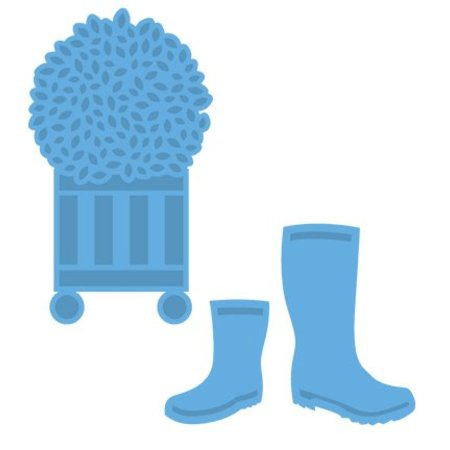 Marianne Design Punzonado y estampado en relieve plantillas: botas de goma y casquillo