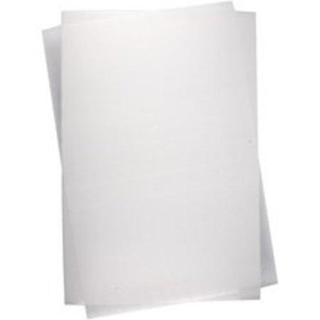 BASTELZUBEHÖR / CRAFT ACCESSORIES Schrumpffolienplatten, Blatt 20x30 cm, Transparent, 5 Blatt