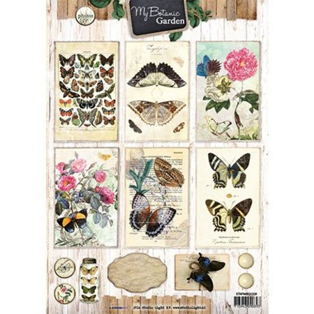 Vintage, Nostalgia und Shabby Shic A4 Bogen, My Botanic Garden