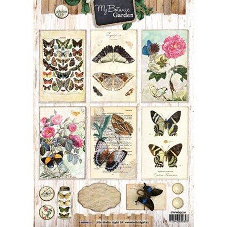 Vintage, Nostalgia und Shabby Shic A4 sheet, My Botanic Garden