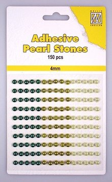 Embellishments / Verzierungen Nellie Snellen, self-adhesive pearls, 4mm