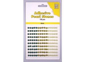 Embellishments / Verzierungen Nellie Snellen, selvklæbende perler, 4mm