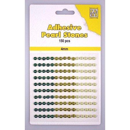 Embellishments / Verzierungen Nellies Snellen, selbstklebende Perlen, 4mm