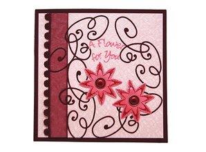 Joy!Crafts und JM Creation Estampación y embutición plantilla y plantillas para borduren