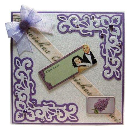 Joy!Crafts und JM Creation Alegría Crafts, troquelado y estampado de plantilla