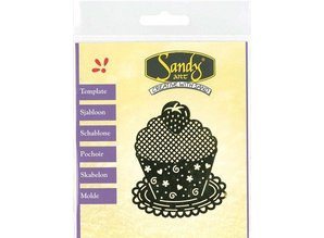 Schablonen und Zubehör für verschiedene Techniken / Templates Mønstre, Sandy Art, Cupcake