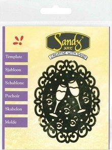 Schablonen, für verschiedene Techniken / Templates Patterns, Sandy Art, Cupcake
