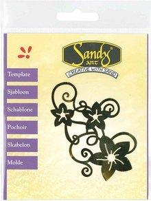 Schablonen und Zubehör für verschiedene Techniken / Templates Patterns, Sandy Arte, fiori