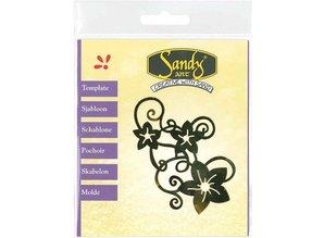 Schablonen und Zubehör für verschiedene Techniken / Templates Patterns, Sandy Art, flowers