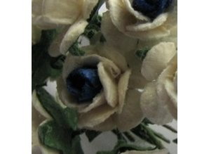 Embellishments / Verzierungen Cimette Mulberry, 10 Blossom