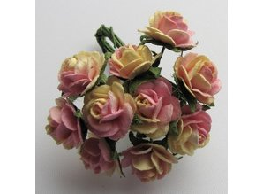 Embellishments / Verzierungen Mulberry florets, 10 Blossom - Copy - Copy