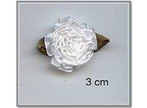Embellishments / Verzierungen 10 Satijnröschen 3 centimetri