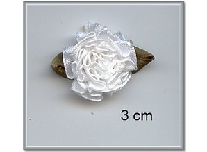 Embellishments / Verzierungen 10 Satijnröschen 3 cm