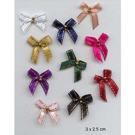Embellishments / Verzierungen 10 Minischleifen 3 x 2,5cm