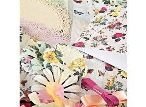 BASTELSETS / CRAFT KITS: kit de artesanía romántica para el diseño de tarjetas